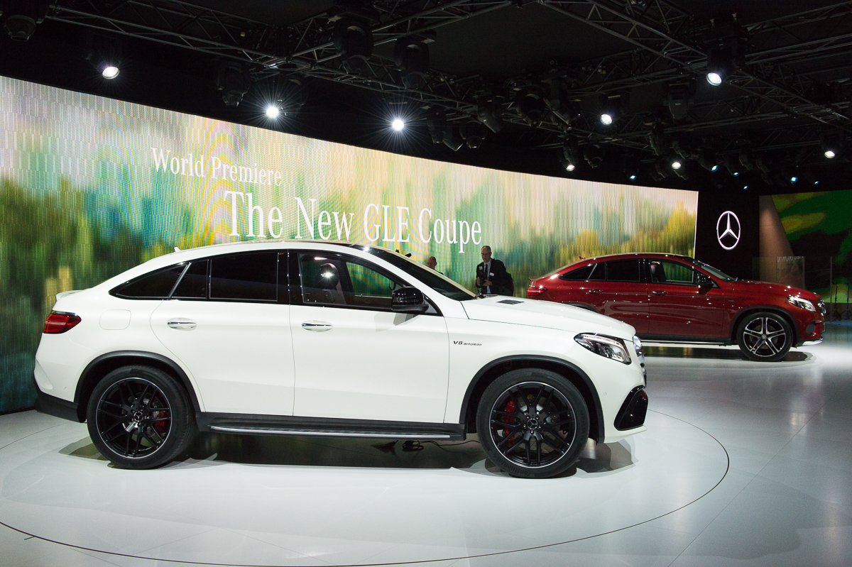 neujahrsempfang und weltpremiere des mercedes benz gle coup c292 in detroit auto geil. Black Bedroom Furniture Sets. Home Design Ideas