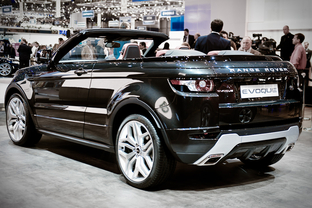 auto salon genf 2012 range rover evoque cabrio studie. Black Bedroom Furniture Sets. Home Design Ideas