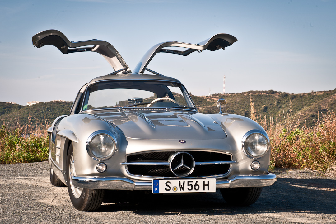 Probefahrt mercedes benz sl 300 coup gullwing w198 for Mercedes benz of louisville