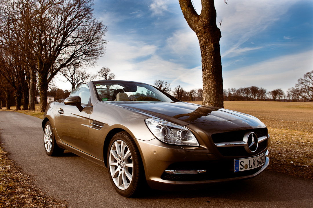 probefahrt mercedes benz slk 200 blueefficiency r172. Black Bedroom Furniture Sets. Home Design Ideas