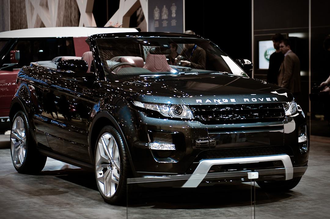auto salon genf 2012 range rover evoque cabrio studie auto geil. Black Bedroom Furniture Sets. Home Design Ideas