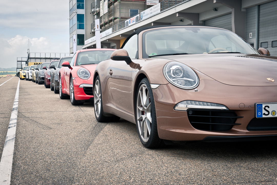 Mit dem Porsche 911 Carrera S auf dem Sachsenring