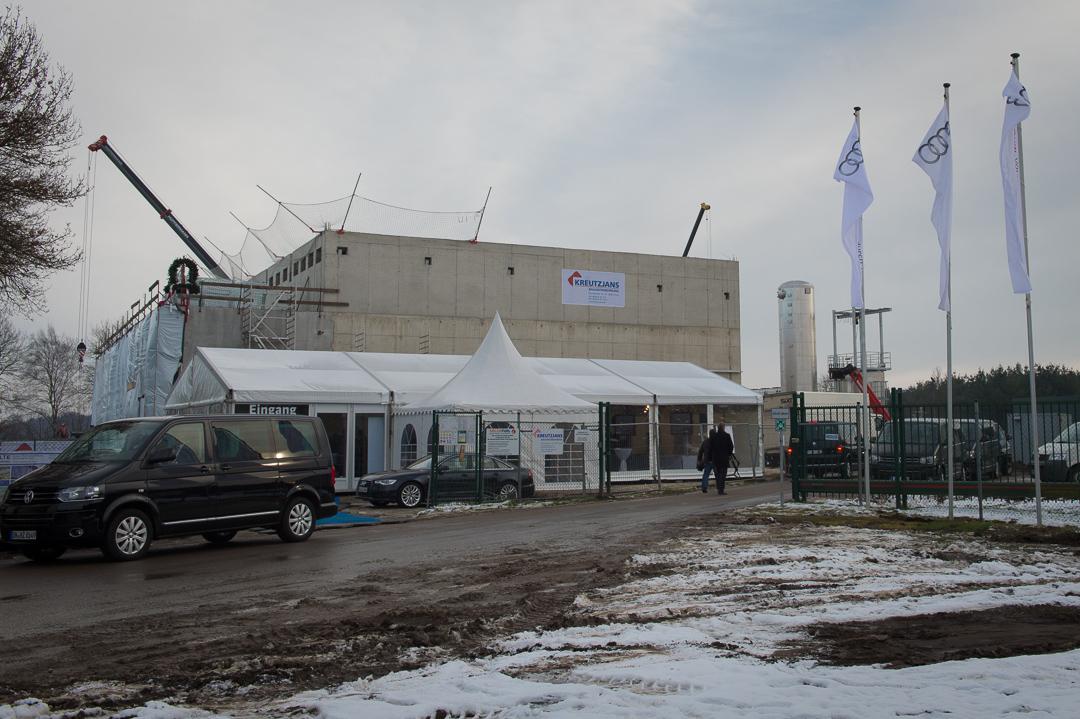 Richtfest der Audi e-gas-Anlage in Wertle