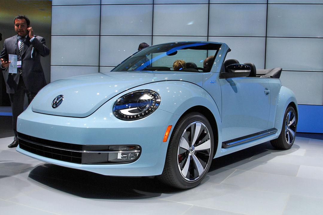 L A Auto Show 2012 2013 Volkswagen Beetle Cabriolet