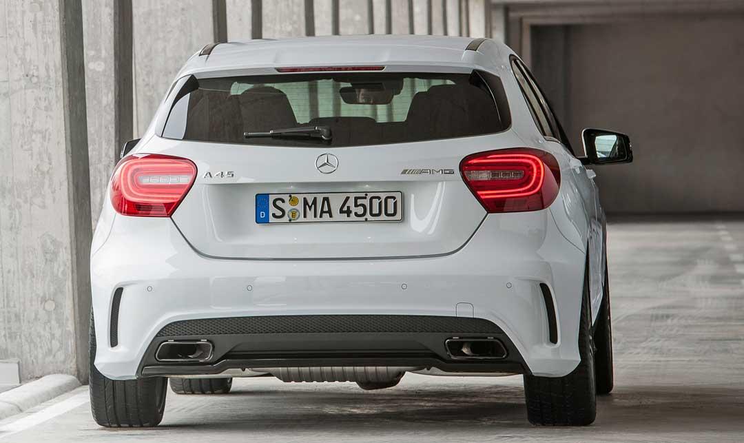 2013-Mercedes-Benz-A-45-AMG-Edition-1-Cirrusweiss-heck
