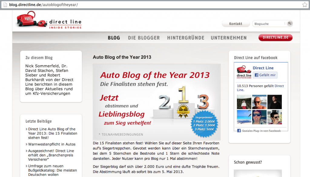 Auto-Blog-of-the-year