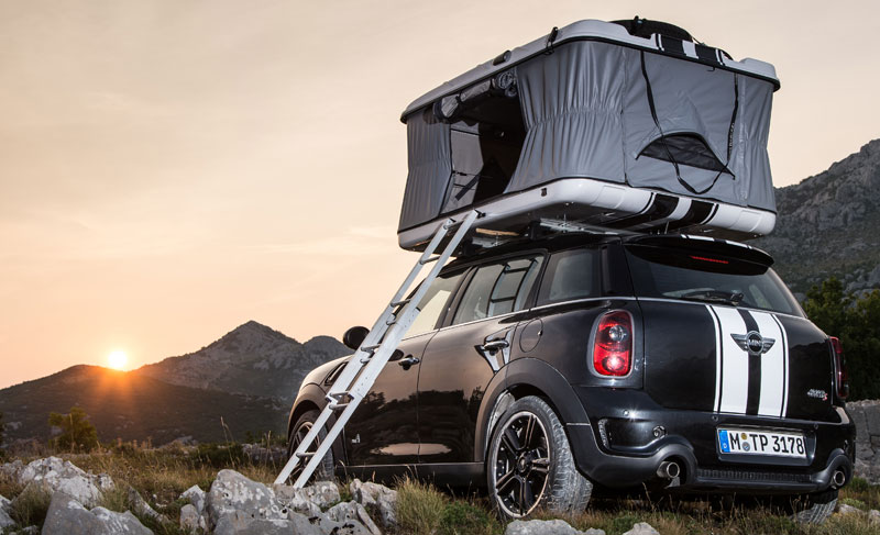 2013 mini countryman all4 camp mit roof top zelt auto. Black Bedroom Furniture Sets. Home Design Ideas