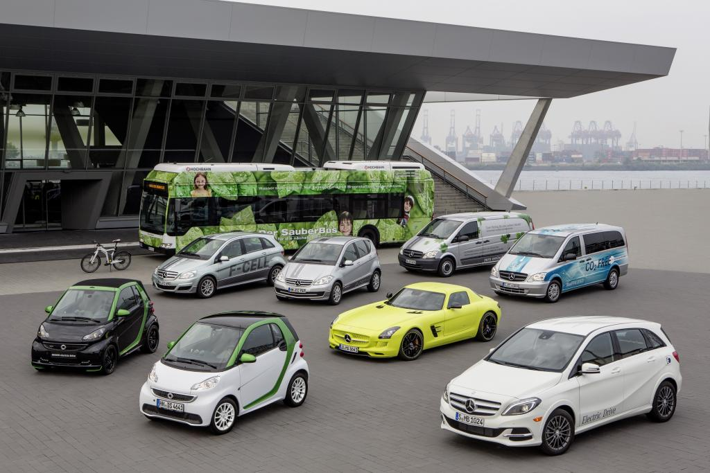 Daimler-Mercedes-Benz-Elektrofahrzeuge