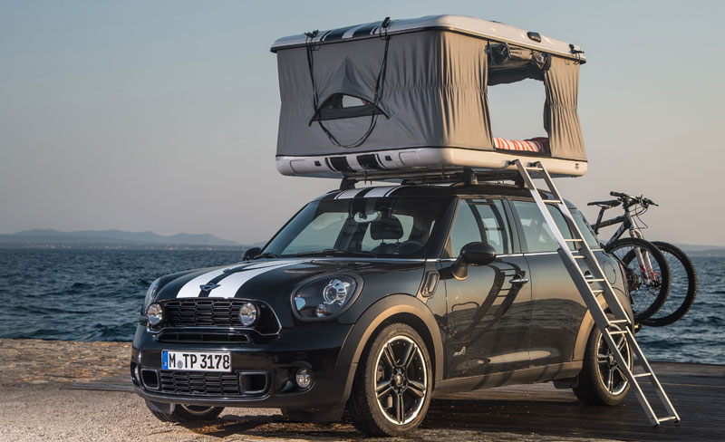 2013 mini countryman all4 camp mit roof top zelt auto geil. Black Bedroom Furniture Sets. Home Design Ideas