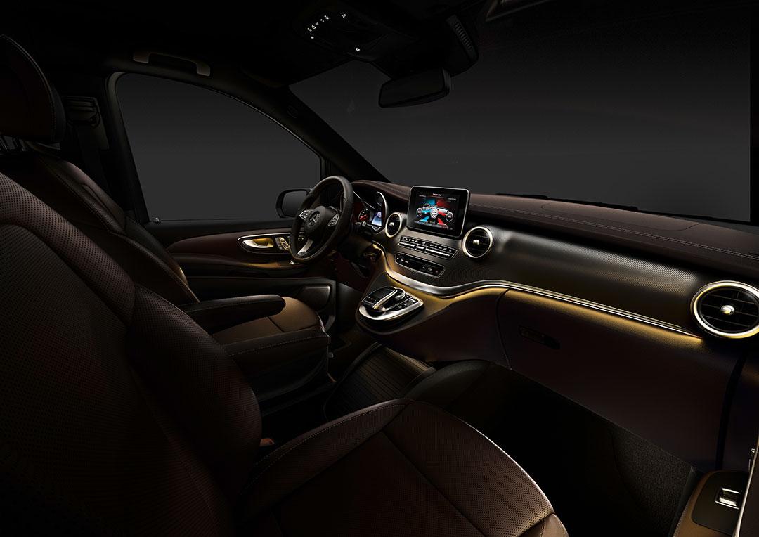 viano nachfolger mercedes benz stellt das interieur der neuen v klasse vs20 447 vor auto. Black Bedroom Furniture Sets. Home Design Ideas