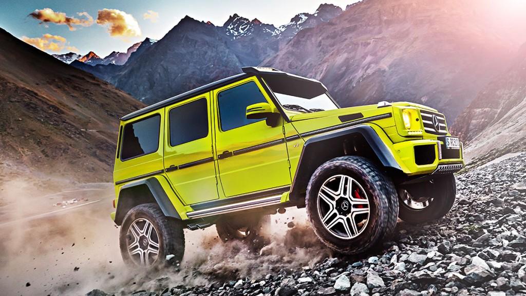 Studie-Mercedes-Benz-G500-4x42-W463-gelb-Pressebild
