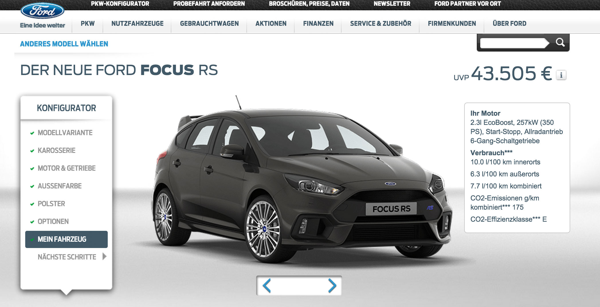 mein 2015 ford focus rs w rde mich euro kosten auto geil. Black Bedroom Furniture Sets. Home Design Ideas
